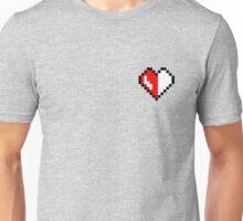 Broken pixel hearth Unisex T-Shirt