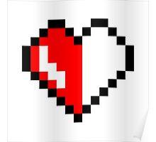 Broken pixel hearth Poster