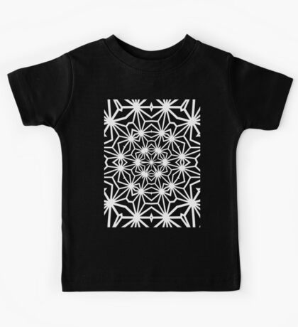 Asanoha Warped and Tiled 2 Inverted Kids Tee