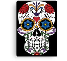 Colorful Sugar Skull Canvas Print
