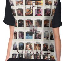 Wall of pictures Chiffon Top