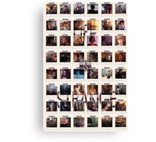 Wall of pictures Canvas Print