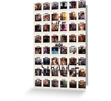Wall of pictures Greeting Card
