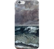 Gustave Courbet - The Wave 1867 - 1869, Seascape iPhone Case/Skin