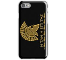 Spartan warrior - Come back with your shield or on it iPhone Case/Skin