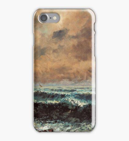 Gustave Courbet - Autumn Sea 1867 , Seascape iPhone Case/Skin