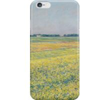 Gustave Caillebotte - The plain of Gennevilliers, yellow fields 1884 iPhone Case/Skin