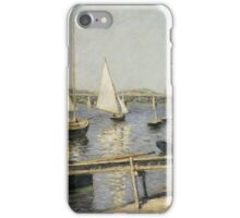 Gustave Caillebotte - Sailing Boats at Argenteuil 1888 , Seascape iPhone Case/Skin