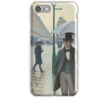 Gustave Caillebotte - Paris Street; Rainy Day 1877 , Landscape iPhone Case/Skin