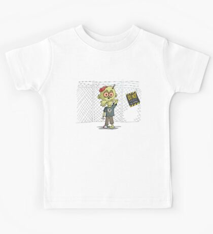 Do not feed the Zombies Kids Tee
