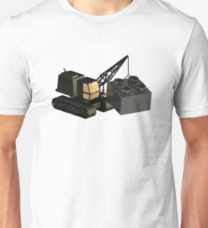 Lego Construction 3D Crane Unisex T-Shirt