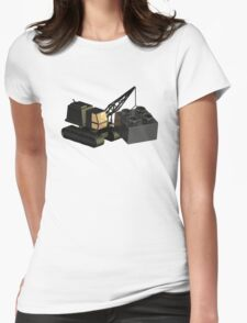 Lego Construction 3D Crane Womens Fitted T-Shirt