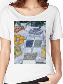 Gustave Caillebotte - Fruit Displayed on a Stand about 1881 - 1882 Women's Relaxed Fit T-Shirt