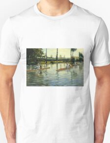 Gustave Caillebotte - Boating on the Yerres Perissoires sur l Yerres 1877 Unisex T-Shirt