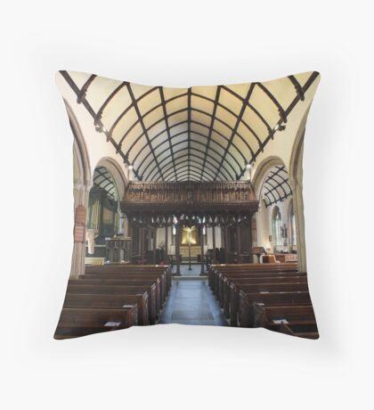 St Mary Magdalene Church, Launceston Throw Pillow