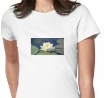 Serenity On The Lily Pond Womens Fitted T-Shirt
