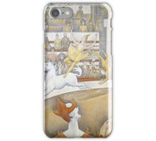 Georges Seurat  - The Circus 1891 iPhone Case/Skin