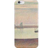 Georges Seurat  - The Channel at Gravelines, Evening 1890 iPhone Case/Skin