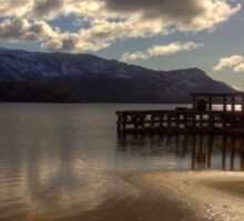 Sunshine Jetty on Loch Morar Sticker