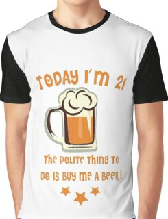 Buy Me A Beer (Color Text) Graphic T-Shirt