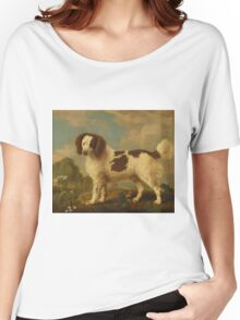 George Stubbs - Brown and White Norfolk or Water Spaniel 1778 Women's Relaxed Fit T-Shirt