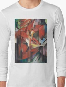 Franz Marc - The Foxes 1913 German Expressionism ,  Fashion Portrait Long Sleeve T-Shirt