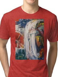 Franz Marc - The Bewitched Mill 1913  Landscape  Tri-blend T-Shirt