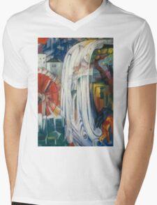 Franz Marc - The Bewitched Mill 1913  Landscape  Mens V-Neck T-Shirt