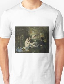 Edouard Manet - Luncheon on the Grass 1863 , French  Impressionism ,  Landscape  Unisex T-Shirt