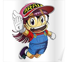 Arale Jump Poster