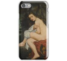 Edouard Manet - La Nymphe surprise 1861 , French Impressionism , Woman , Fashion ,  Portrait iPhone Case/Skin