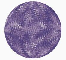 Purple Ripple Intricate Organic Design One Piece - Long Sleeve