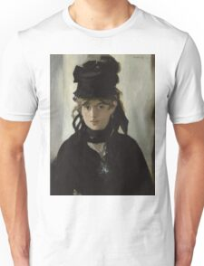 Edouard Manet - Berthe Morisot With a Bouquet of Violets 1872 , French Impressionism , Woman , Fashion ,  Portrait  Unisex T-Shirt