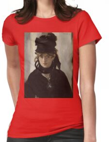 Edouard Manet - Berthe Morisot With a Bouquet of Violets 1872 , French Impressionism , Woman , Fashion ,  Portrait  Womens Fitted T-Shirt