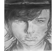 Chandler Riggs as Carl Grimes Portrait Drawing Photographic Print