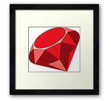 ruby logo Framed Print