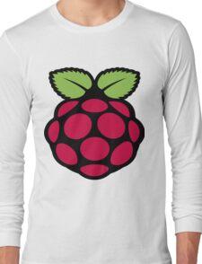 raspberry logo Long Sleeve T-Shirt