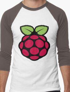 raspberry logo Men's Baseball ¾ T-Shirt