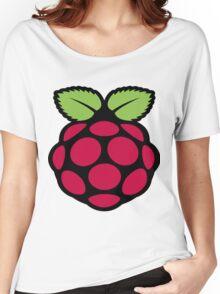 raspberry logo Women's Relaxed Fit T-Shirt