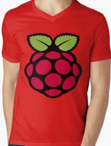raspberry logo Mens V-Neck T-Shirt