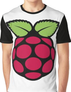 raspberry logo Graphic T-Shirt