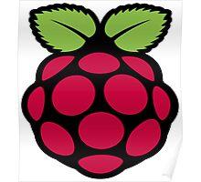 raspberry logo Poster