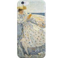 Childe Hassam - Summer Sunlight Isles of Shoals , American  Impressionism Seascape Marine Woman Portrait Fashion  iPhone Case/Skin