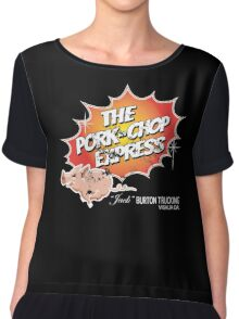 Big Trouble in Little China Pork Chop Distressed Express light Glow Variant Chiffon Top