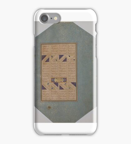 Page of Calligraphy from a Mantiq al-tair (Language of the Birds) iPhone Case/Skin