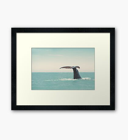i'll cross the sea for a different world... Framed Print