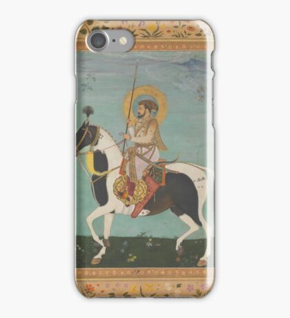 Shah Jahan on Horseback, Folio from the Shah Jahan Album, iPhone Case/Skin
