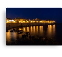 Royal Blue and Gold - Syracuse, Sicily from the Sea Promenade Canvas Print