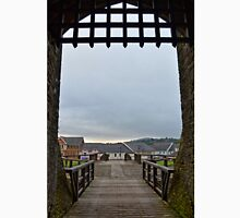 Welch Caerphilly Castle in Wales - Gate Bridge in the morning view to Caerphilly Unisex T-Shirt