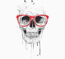 Skull with red glasses Unisex T-Shirt